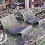 """Asbesthoudende tuinstoellen. Deze tuinstoellen zijn ontworpen door de kunstenaar Willy Guhl omstreeks 1954 • <a style=""""font-size:0.8em;"""" href=""""http://www.flickr.com/photos/78534169@N04/12777500354/"""" target=""""_blank"""">View on Flickr</a>"""
