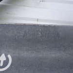 """Asbesthoudende golfplaat met merknaam van Asbestona te Harderwijk • <a style=""""font-size:0.8em;"""" href=""""http://www.flickr.com/photos/78534169@N04/12881155965/"""" target=""""_blank"""">View on Flickr</a>"""